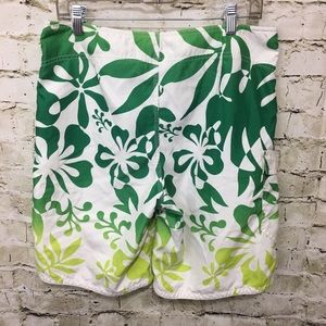 Mossimo Swim - Mossimo Hawaiian Print Board Shorts